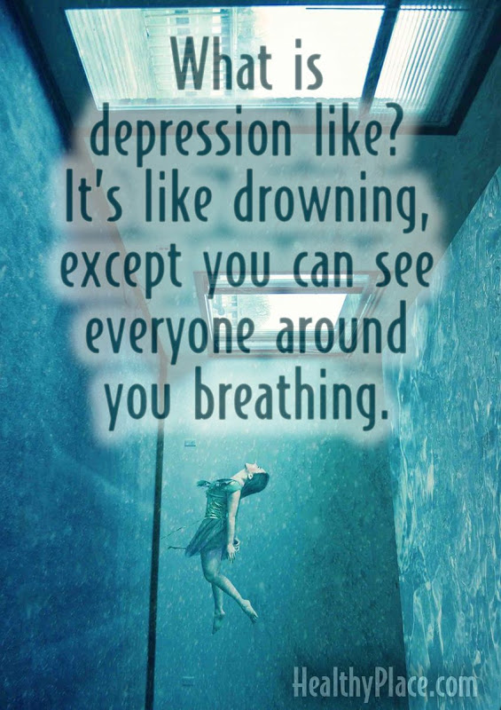 Depression Feels Like Drowning