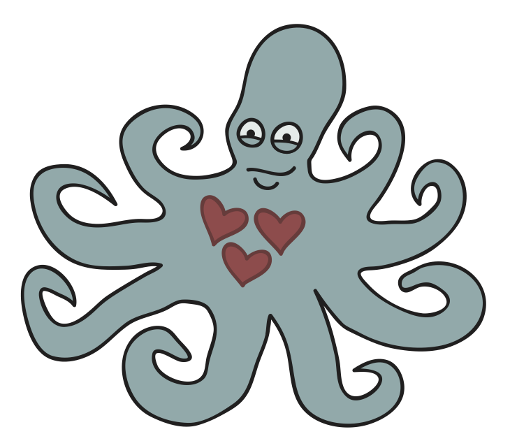 Octopus with 3 Hearts