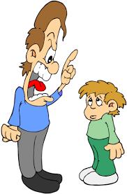 Reprimanding dad